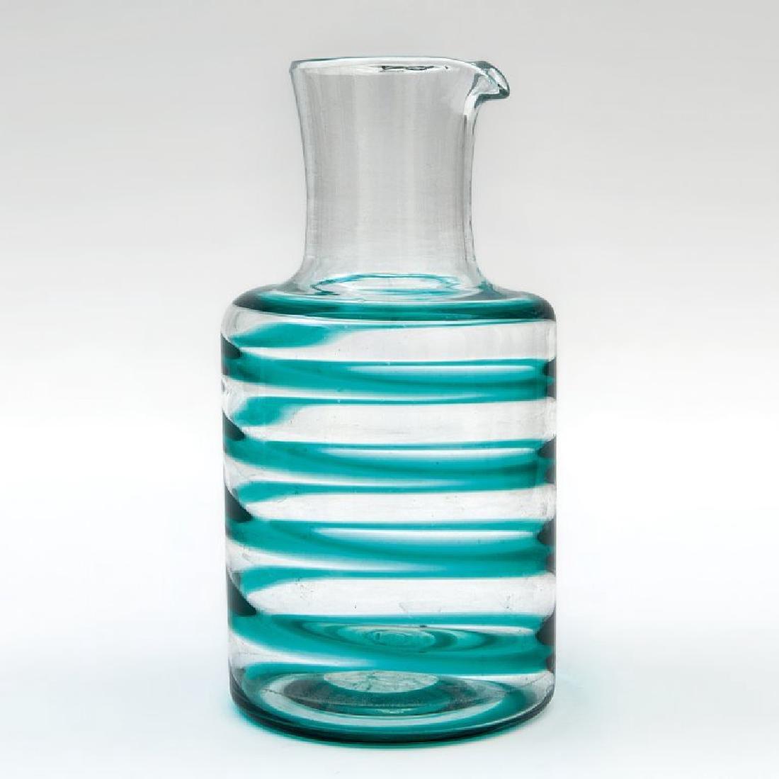 CARLO SCARPA  Una caraffa di vetro a fasce per