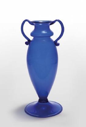 NAPOLEONE MARTINUZZI, VENINI  Un vaso in vetro