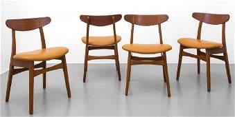 HANS WEGNER Quattro sedie per CARL HANSEN &