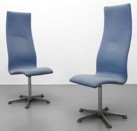 """ARNIE JACOBSEN  Due """"Oxford chairs"""" girevoli"""