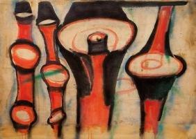 MARIO MERZ (1925-2003)  Bambù e conchiglia