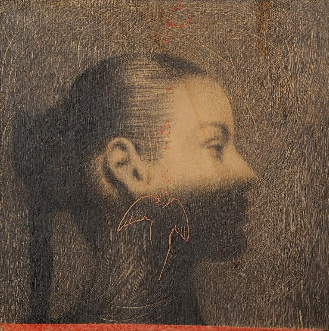 OMAR GALLIANI (1954-)  Disegno 1996 tempera