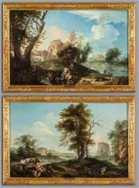 """ANDREA LOCATELLI (1695-1741)  """"Paesaggio con"""