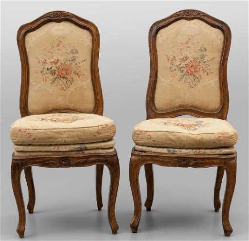 Sei sedie Luigi XV in noce, Genova sec.XVIII