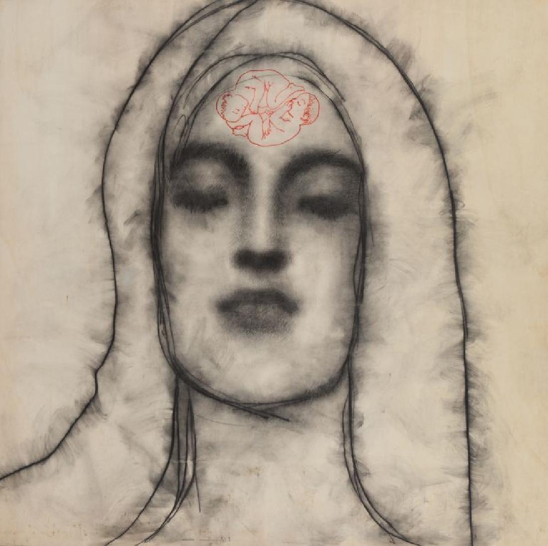 OMAR GALLIANI (1954-)  Nuovi santi  matita