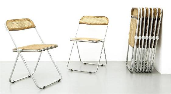 GIANCARLO PIRETTI Nove sedie pieghevoli