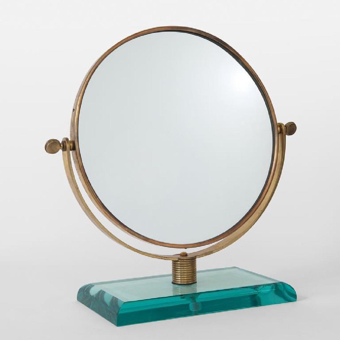 PONTI Uno specchio da tavolo, anni \'50.