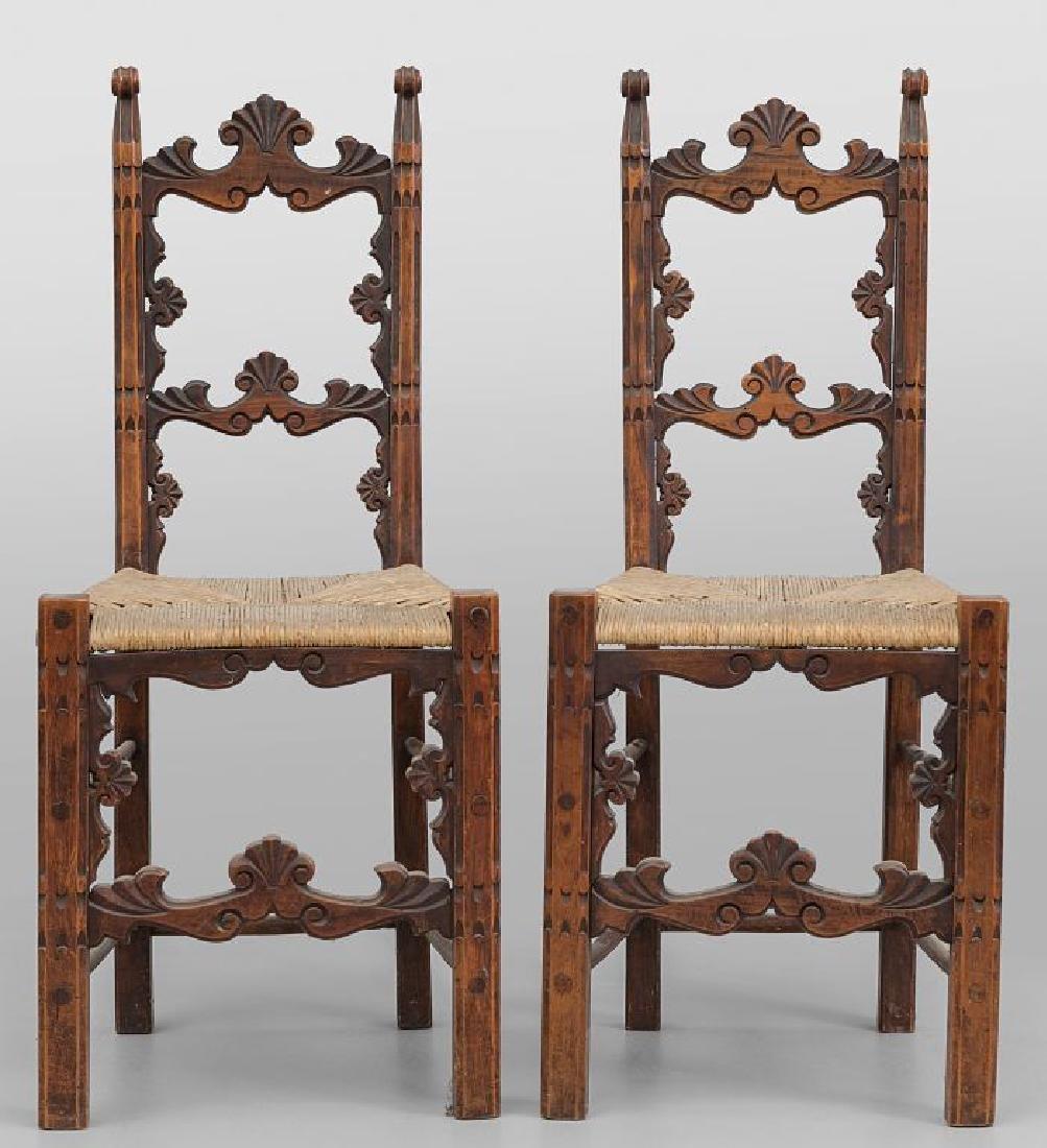 Dodici sedie a rocchetto in stile, sec.XX