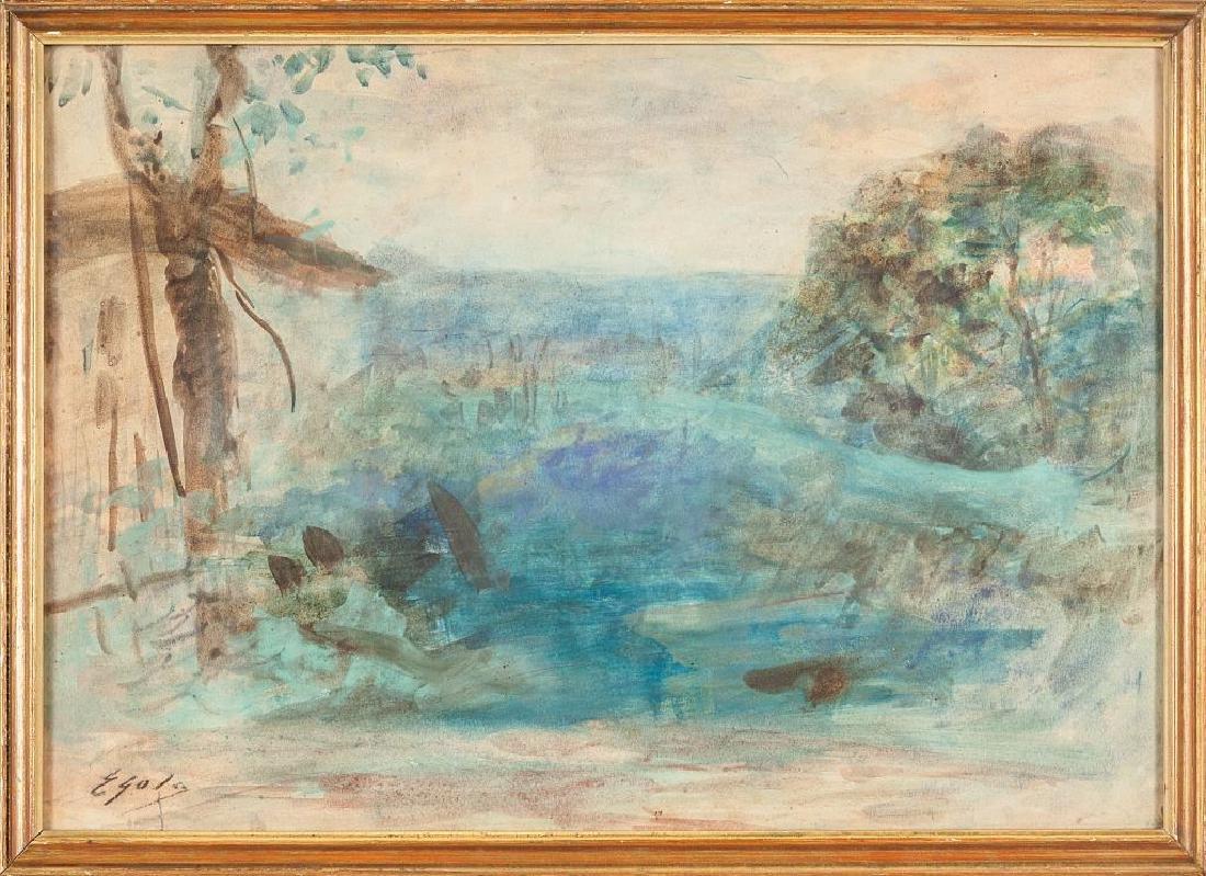 EMILIO GOLA (1851-1923)  Paesaggio