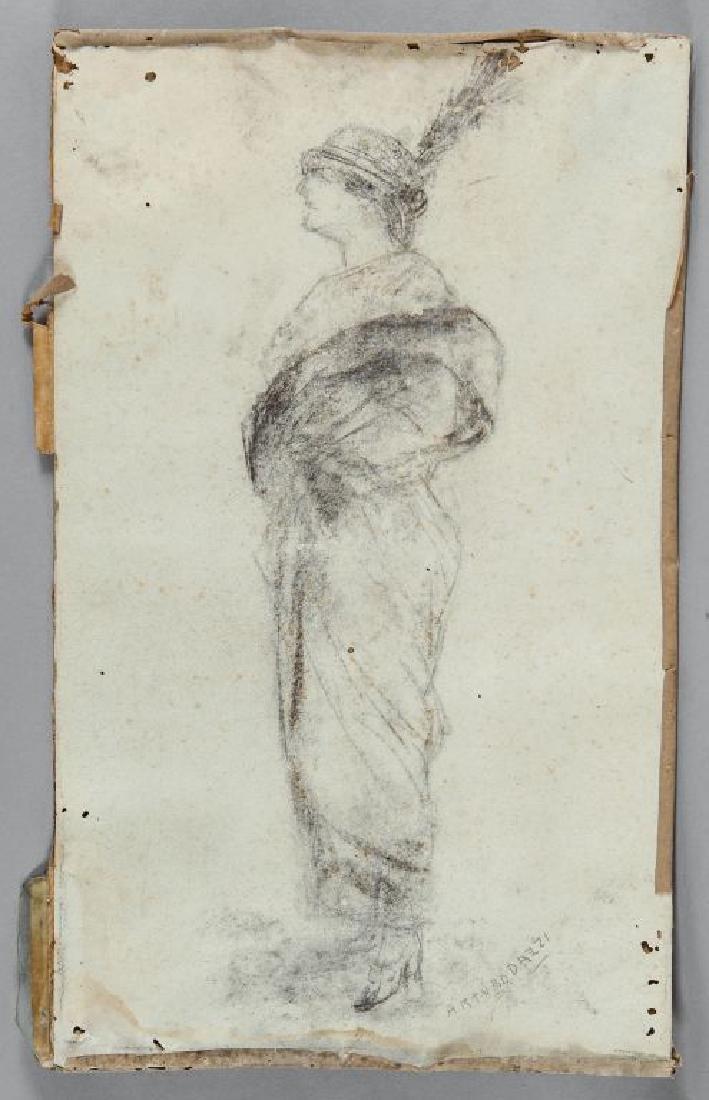 ANTONIO DAZZI (1846-1896)  Donna elegante con