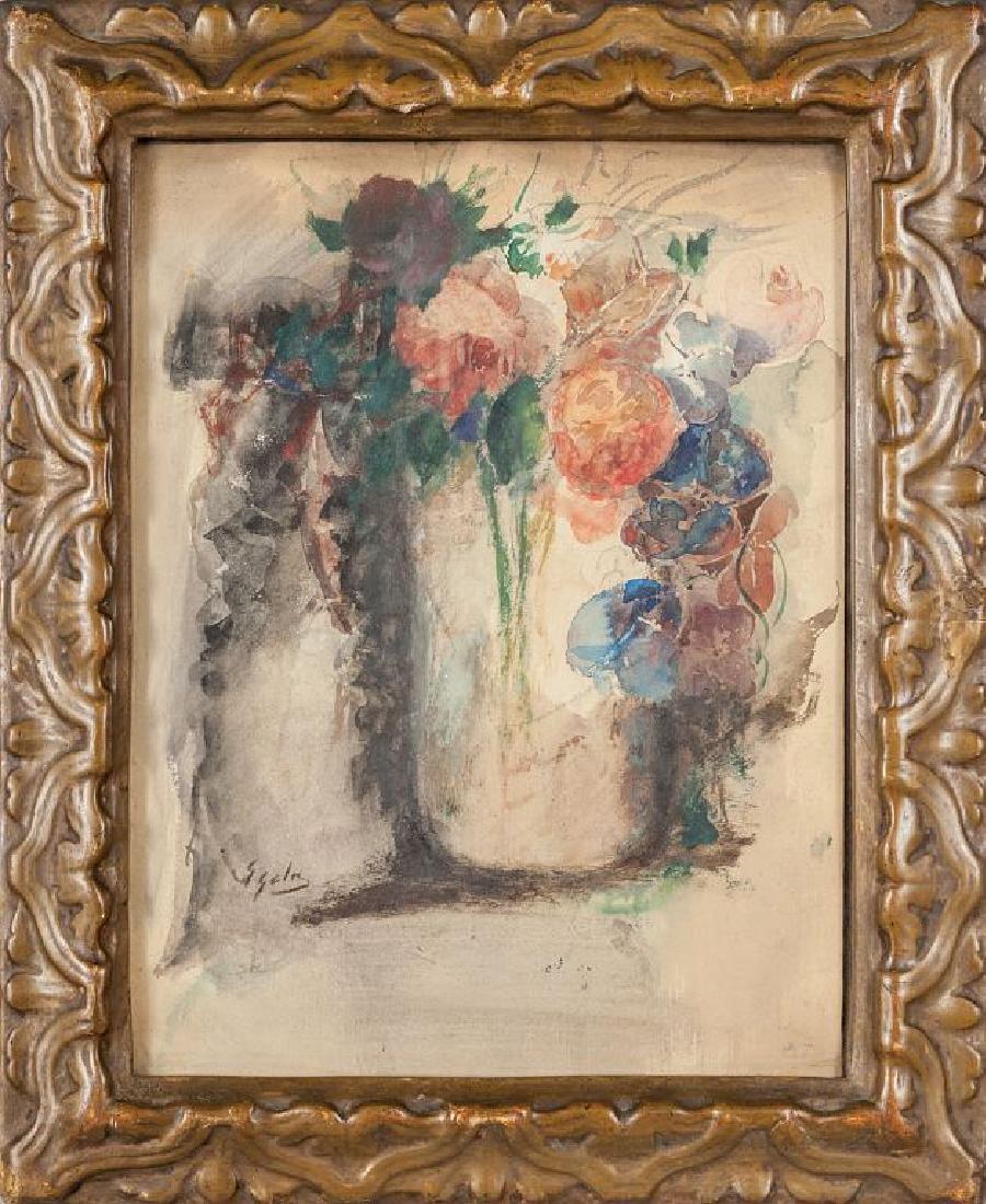 EMILIO GOLA (1851-1923)  Rose acquarello