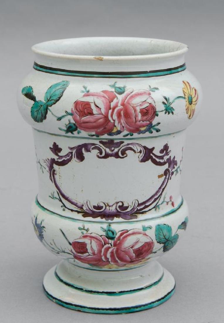 Albarello con decoro alla rosa, Bologna sec.XVIII