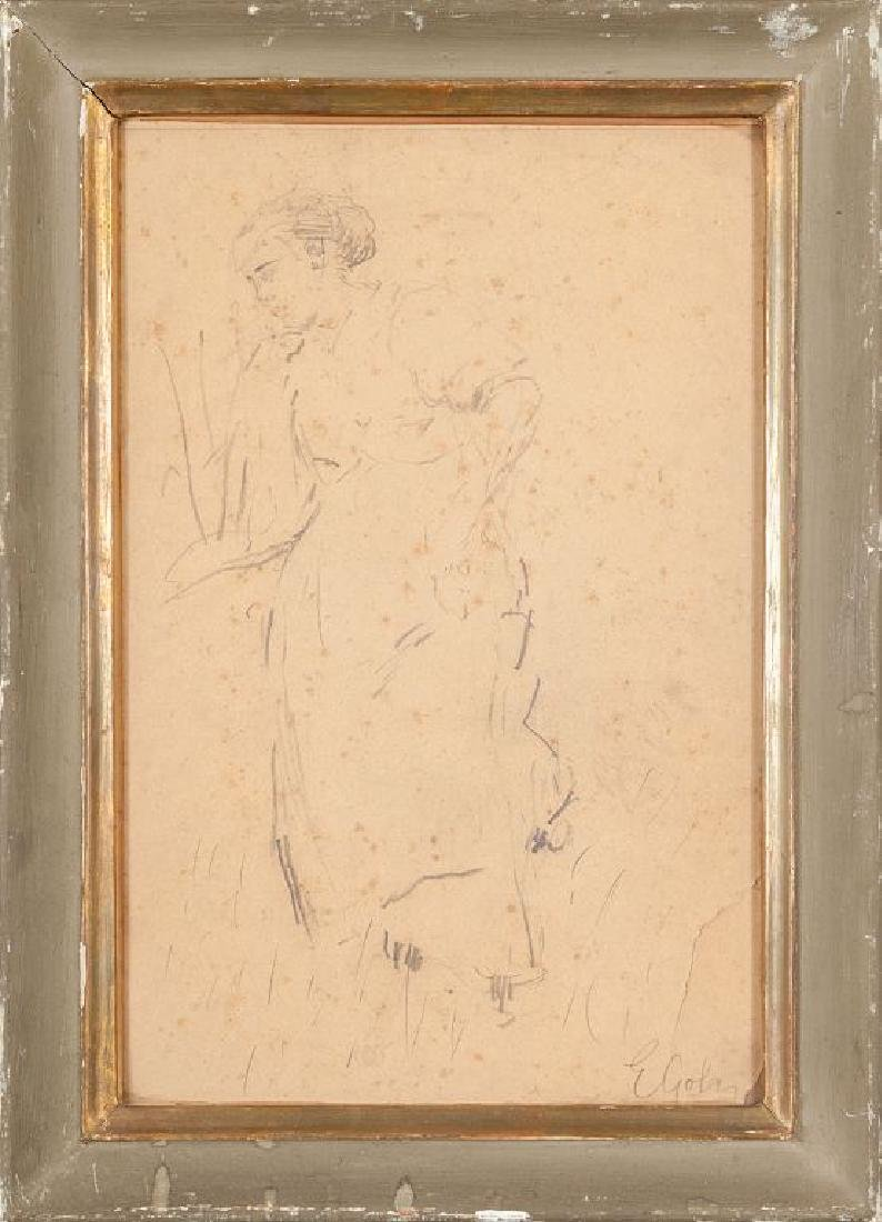 EMILIO GOLA (1851-1923)  Donna in