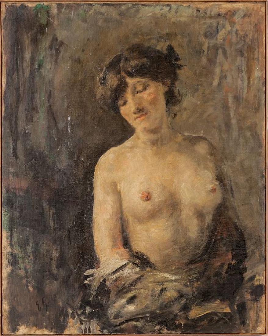 EMILIO GOLA (1851-1923)  Bella ragazza olio
