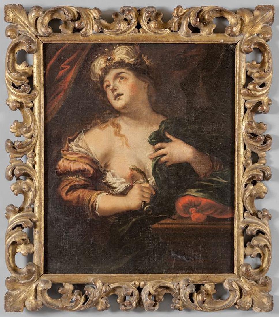 """Scuola lombarda sec.XVII """"Cleopatra"""" olio,"""