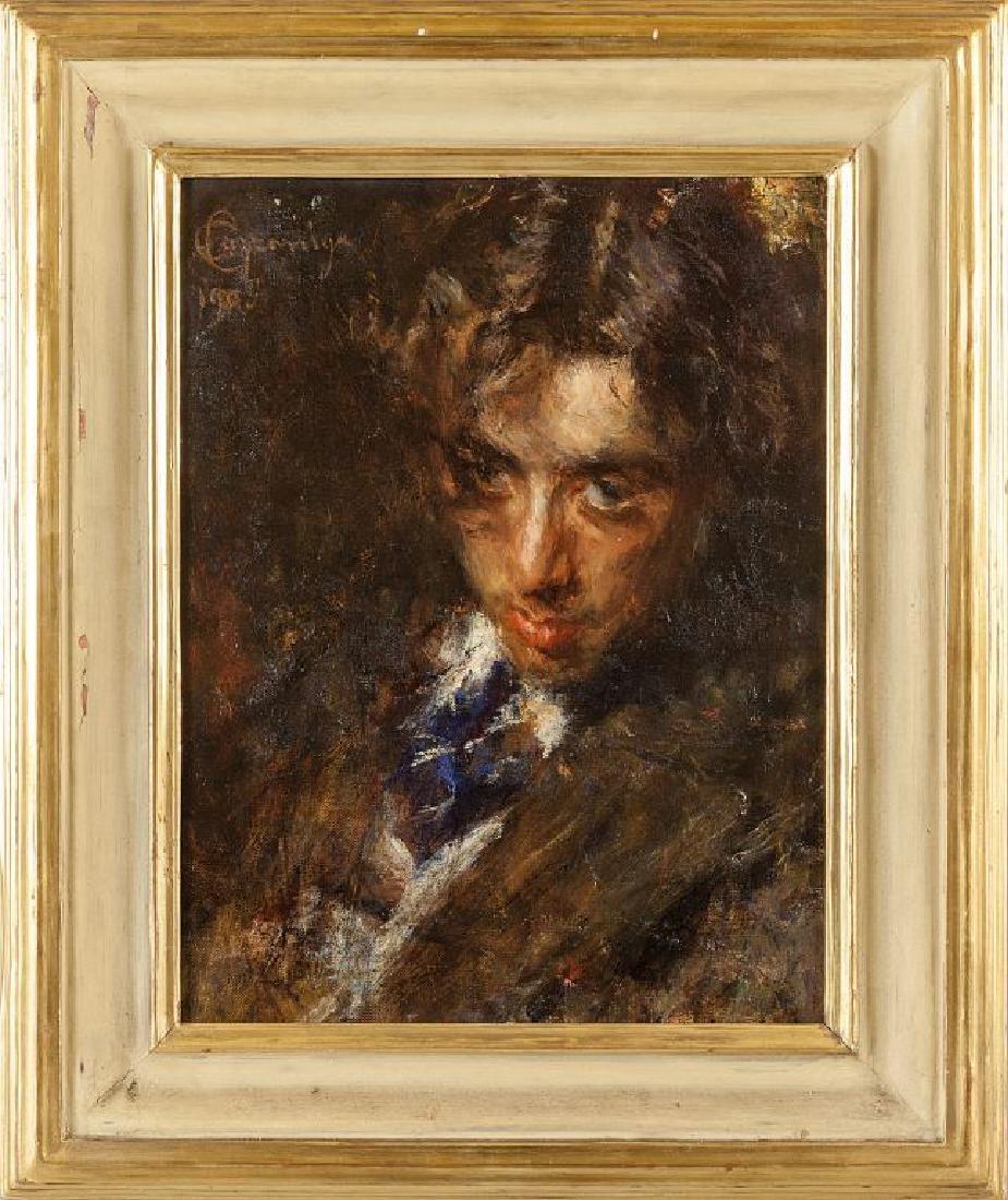 CARLO CAZZANIGA (1883-1936)  Ritratto di