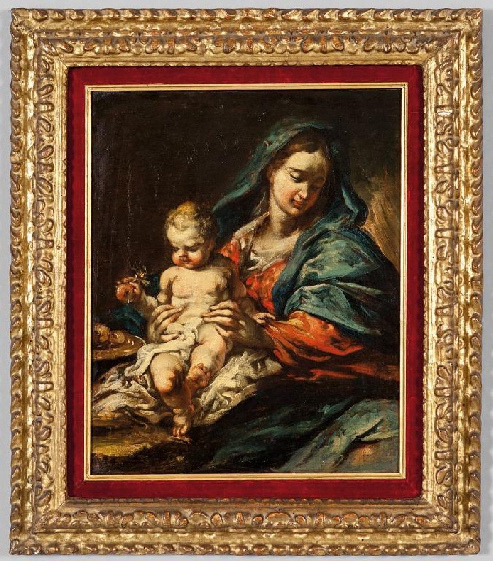 """Scuola lombarda sec.XVII (G.A.Pianca)""""Madonna con"""