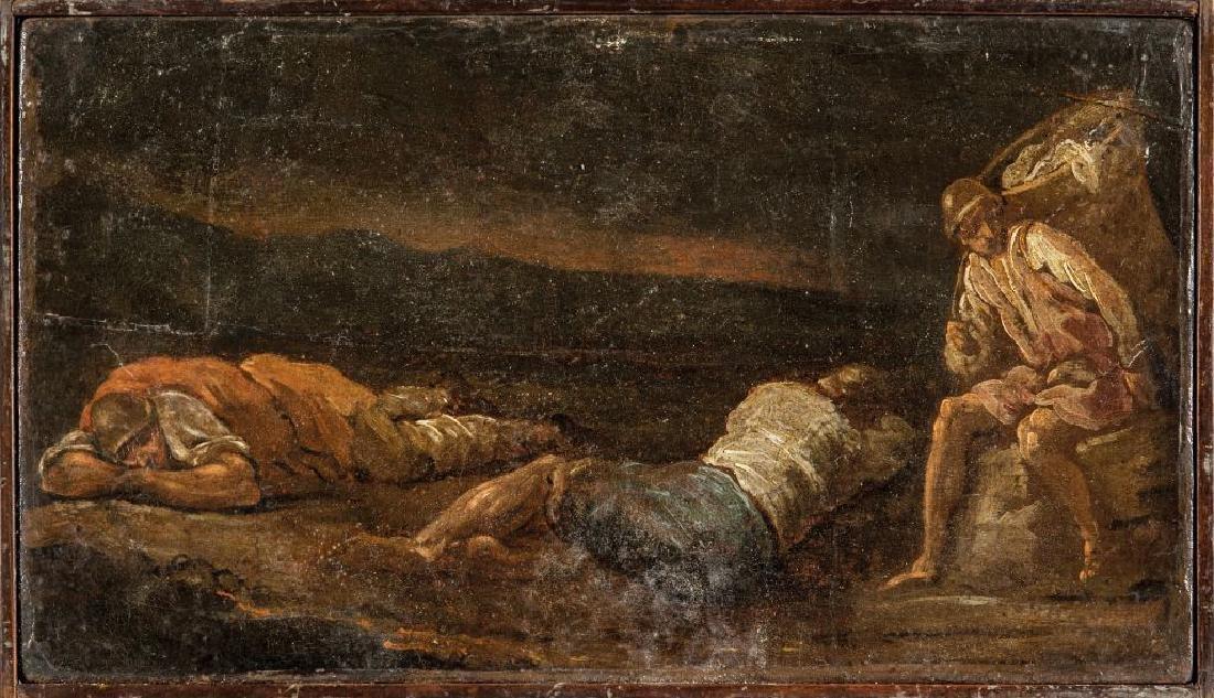 """Scuola romana sec.XVIII """"Il riposo dei pastori"""""""