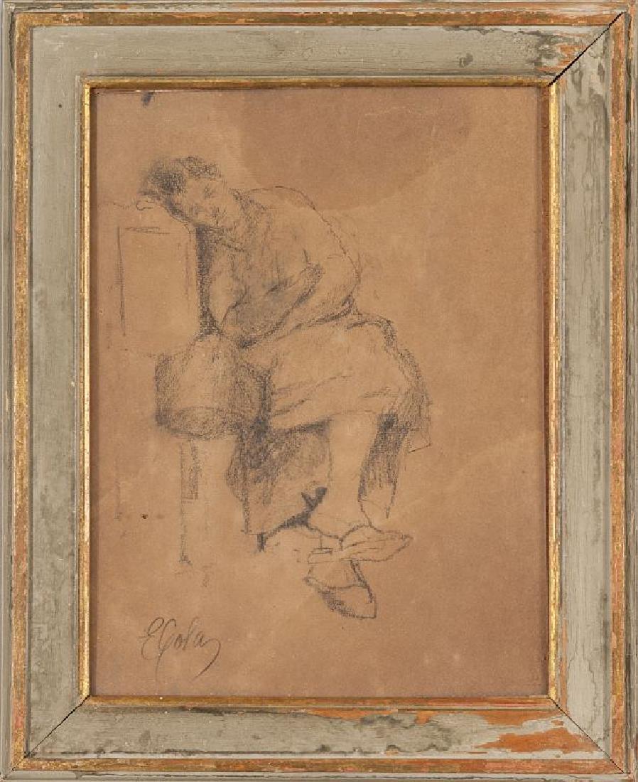 EMILIO GOLA (1851-1923)  Riposo