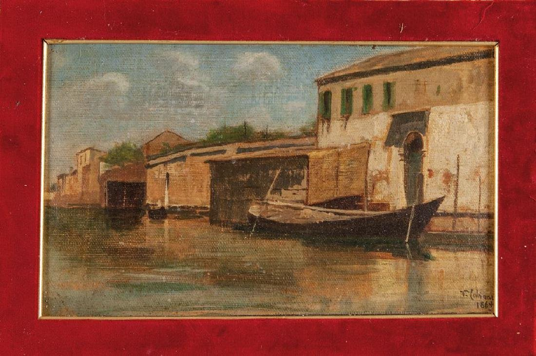 VINCENZO CABIANCA (1827-1902)  Murano olio