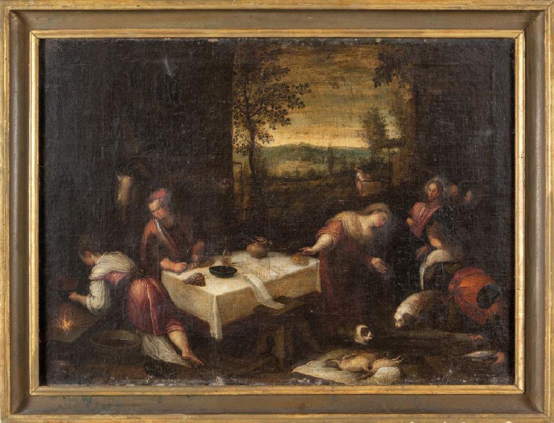 """Scuola del Bassano sec.XVIII """"Scena Sacra"""""""