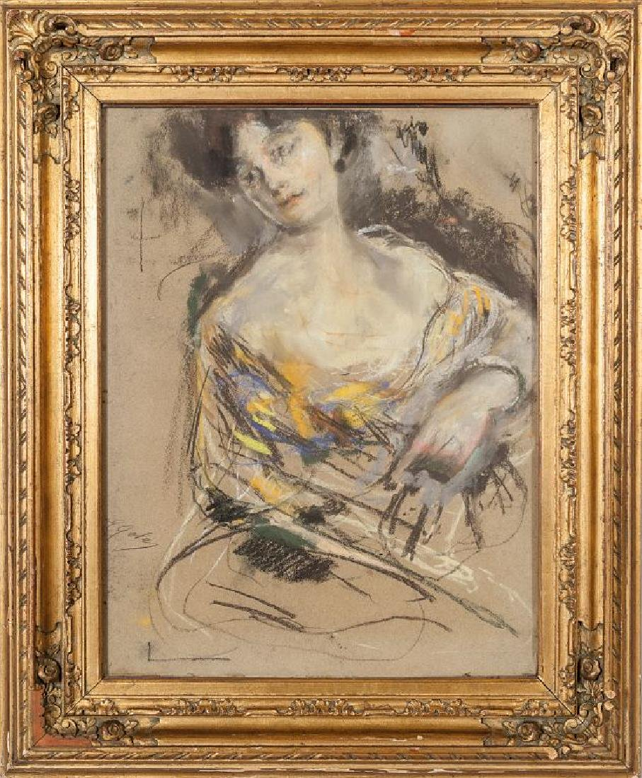 EMILIO GOLA (1851-1923)  Ritratto di