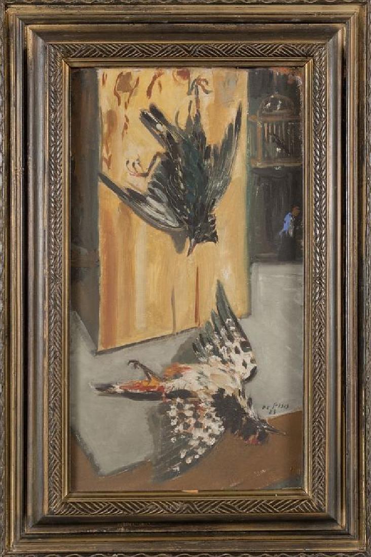 FILIPPO DE PISIS (1896-1956)  Uccelli olio