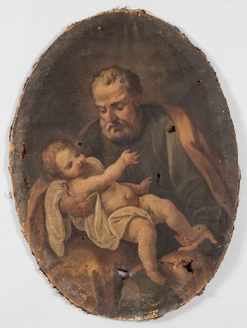 """Scuola lombarda sec.XVIII """"San Giuseppe e il"""