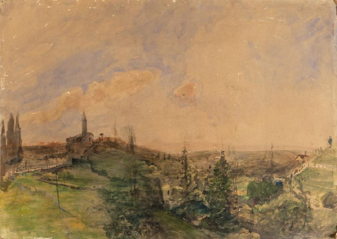 EMILIO GOLA (1851-1923)  Paesaggio con