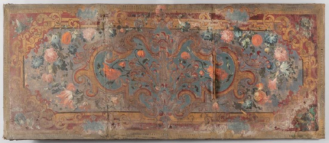 Antico paliotto dipinto a fiori, sec.XVII