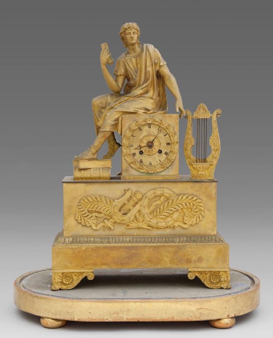Pendola Carlo X in bronzo dorato con