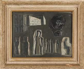 MARIO SIRONI (1885-1961)  Astratto olio cm.