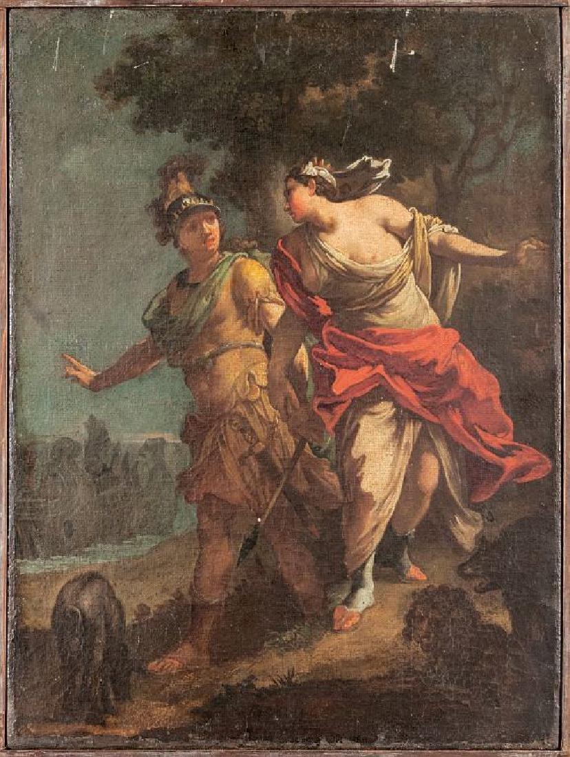 """G.Guerrini (attribuito) """"La partenza di Enea"""""""