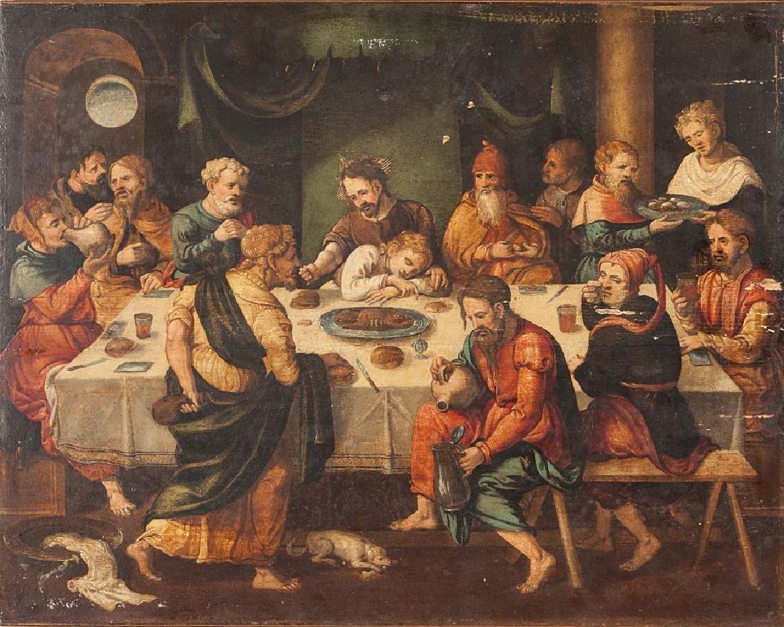"Scuola emiliana sec.XVIII ""L'Ultima Cena"" olio su"
