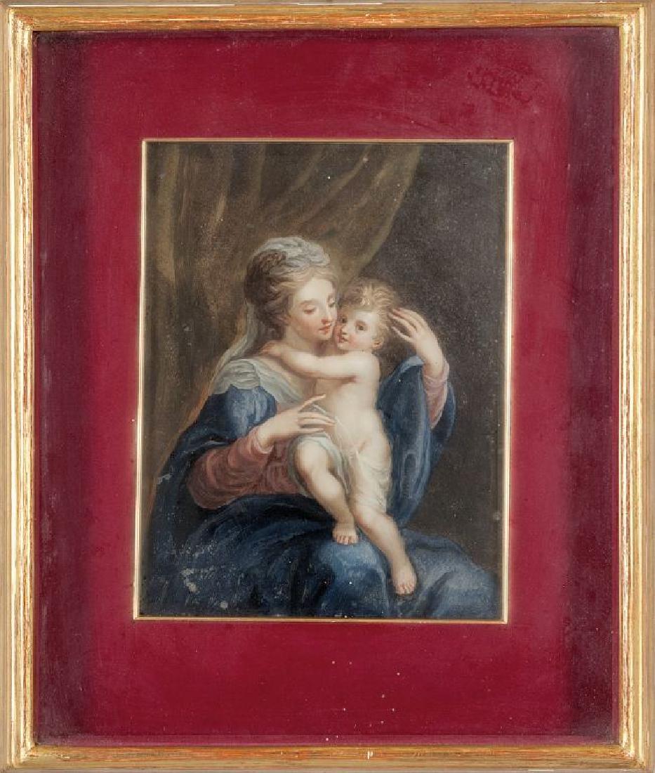 """""""Madonna con il Bambino"""" olio, Francia"""