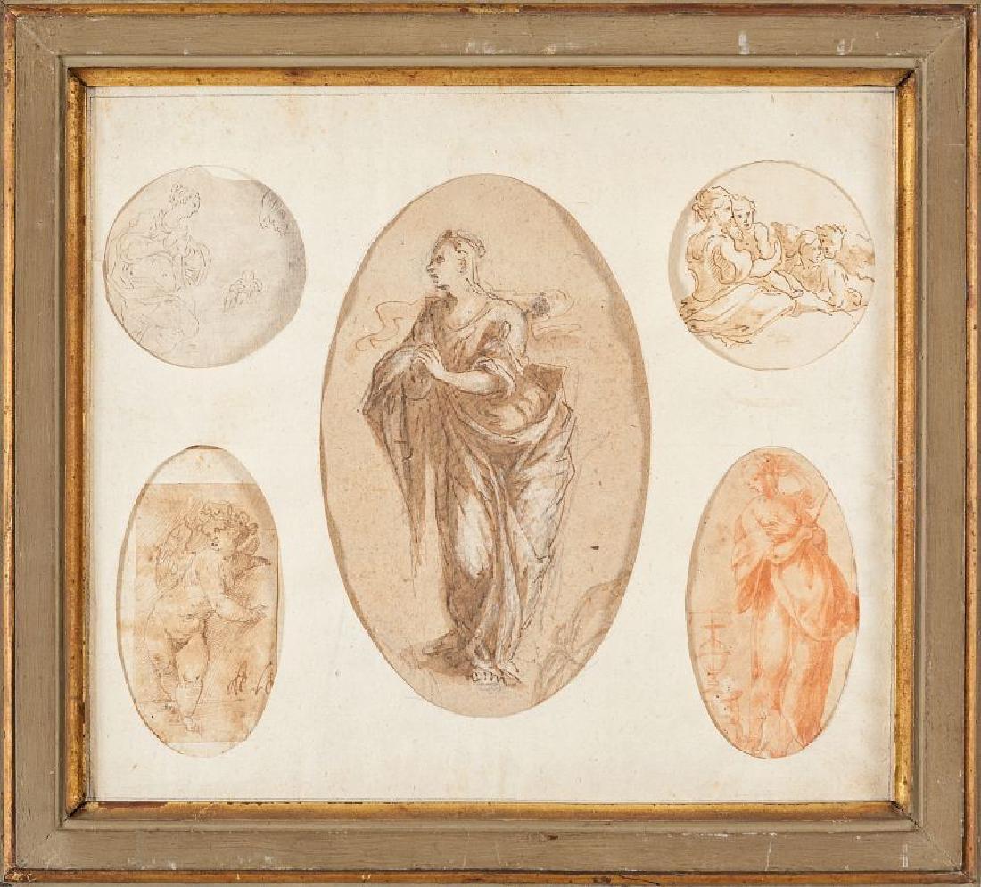 Cinque disegni del sec.XVII e del sec.XVIII in