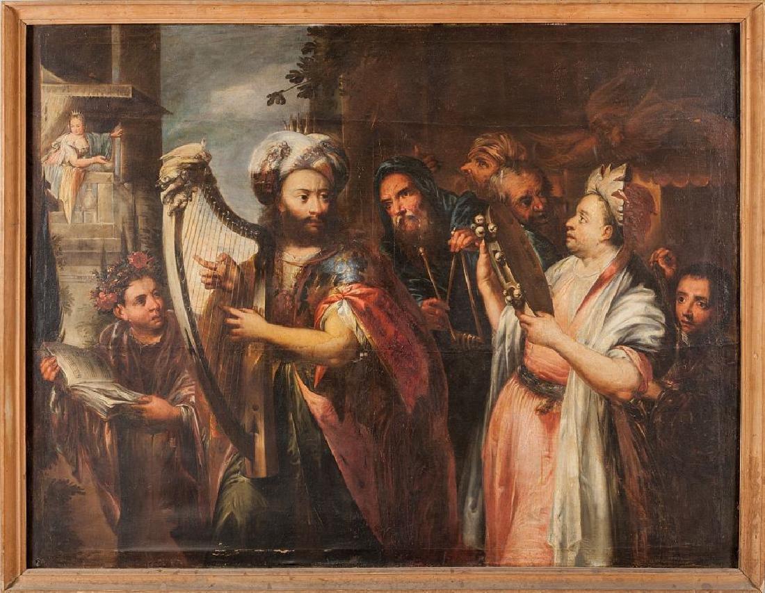 """CELESTI ANDREA (1637-1712)  """"Davide suona per"""