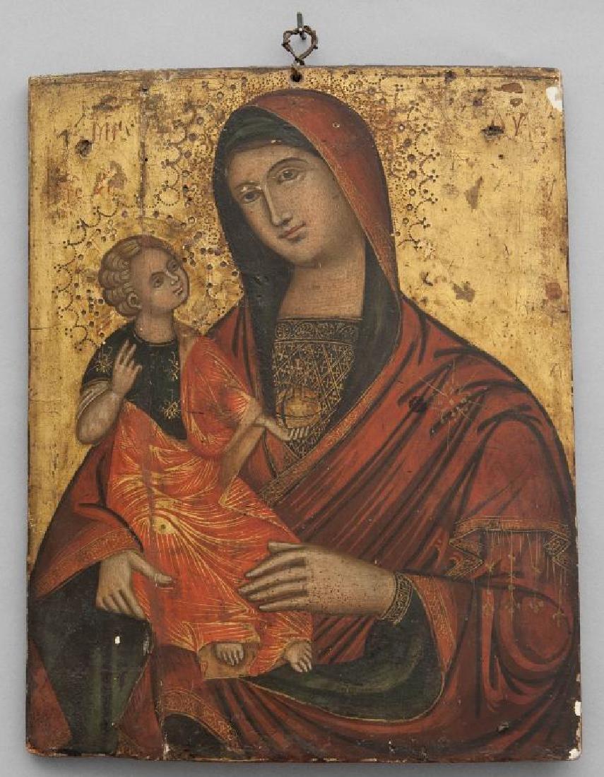 """Scuola dalmata sec.XIX """"Madonna con Bambino"""""""