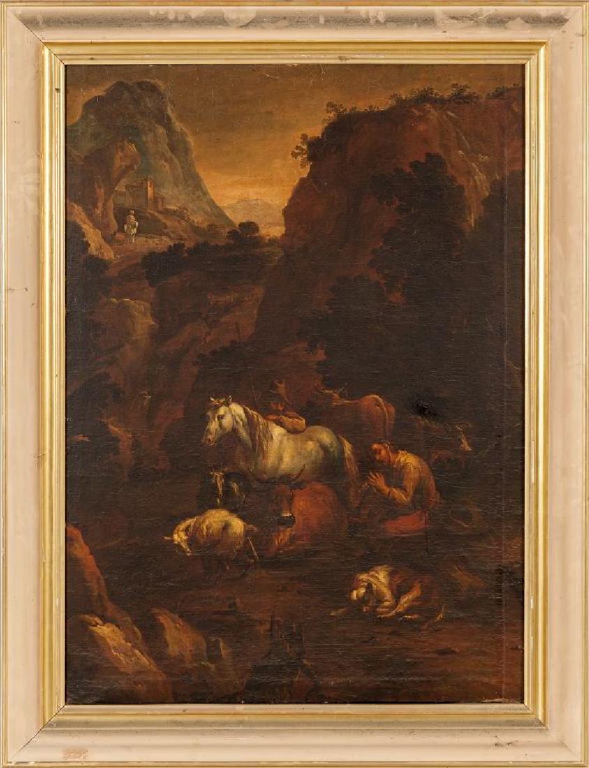 """FRANCESCO LONDONIO (1723-1783)  """"Paesaggio con"""