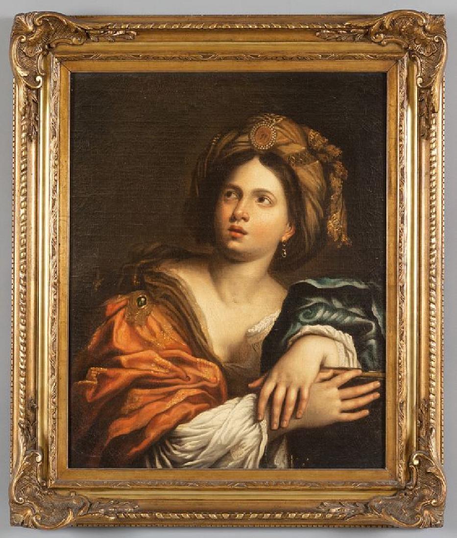 "Scuola napoletana sec.XVIII ""Sibilla"" olio cm."