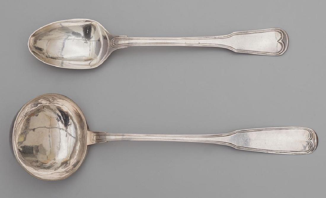 Mestolo e cucchiaio in argento, Punzone della