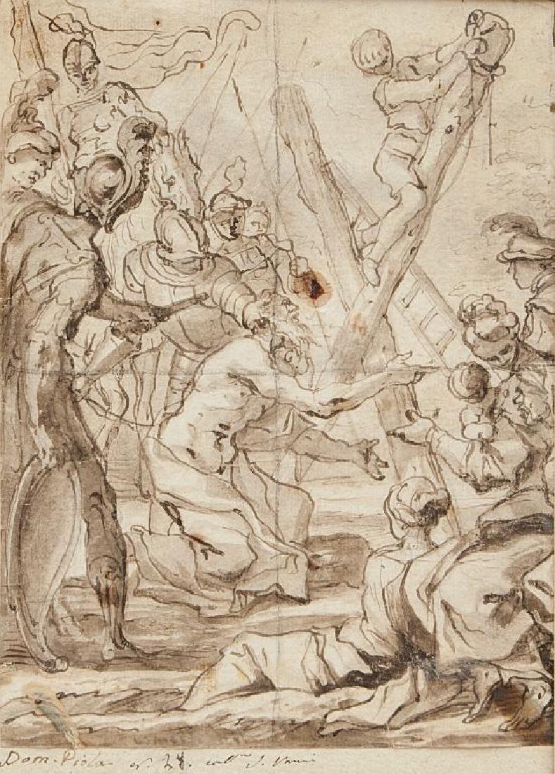 DOMENICO PIOLA (1628-1703)  Il martirio di