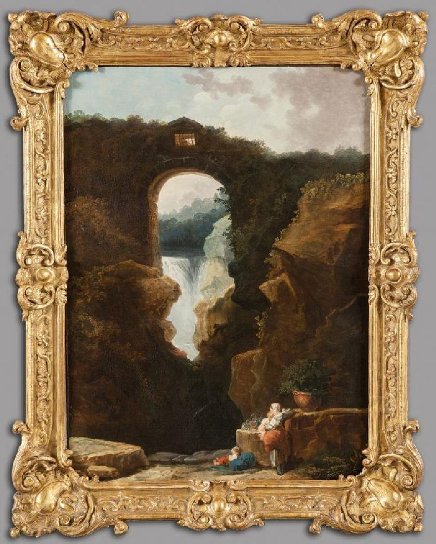 ROBERT HUBERT (1733-1808)  Le cascate di