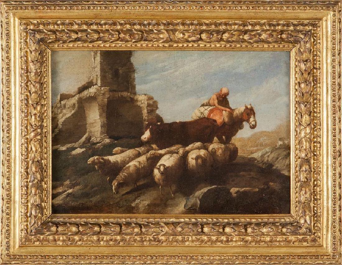 """ANTONIO TRAVI (1608-1665)  """"Gregge in un"""