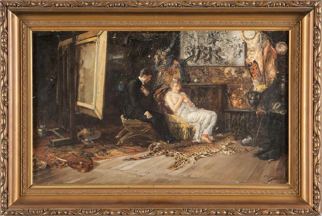 PABLO SALINAS (1871-1946)  L'atelier del