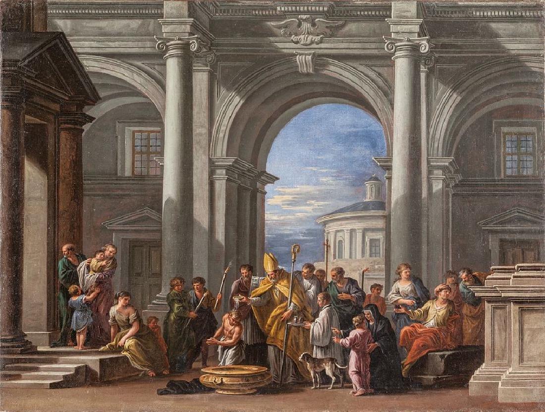 GIOVANNI GHISOLFI (1623-1683)  Scena di