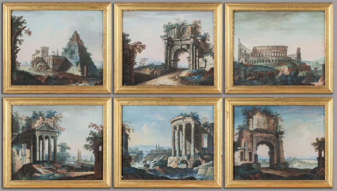 """Scuola romana II metà sec.XVIII """" Capricci di"""