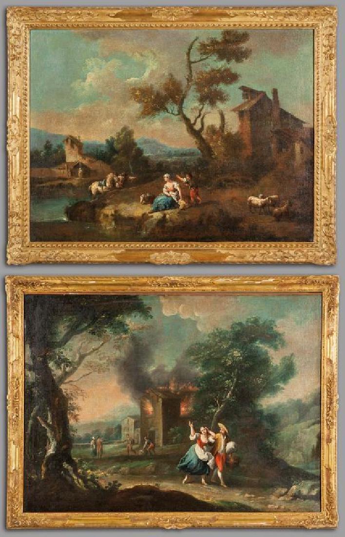 GIUSEPPE ZAIS (1709-1784)  Paesaggio fluviale