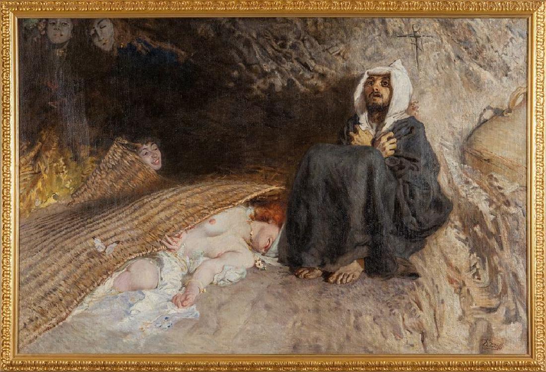 DOMENICO MORELLI (1826-1901)  Le tentazioni di
