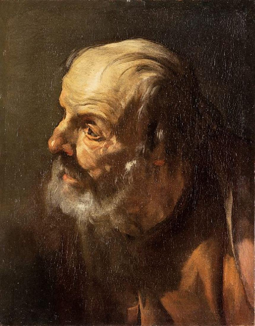 GIOACCHINO ASSERETO (1600-1649)  Testa  di
